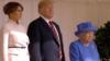 Мелания и Дональд Трампы на церемонии встречи, устроенной королевой Елизаветой II в Виндзорском замке, 13 июля 2018