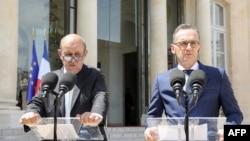 Ֆրանսիայի և Գերմանիայի արտաքին գործերի նախարարներ Ժան Իվ Լը Դրիանը և Հայկո Մաասը, արխիվ, Փարիզ, 19 հունիսի, 2019թ.