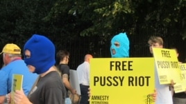 The Pussy Riot prison sentence led to many protests calling for their release.