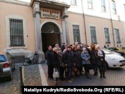 Українці біля суду, де слухається справа Віталія Марківа, Павія, 18 січня 2019