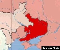 Карта Донецко-Запорожской Советской республики