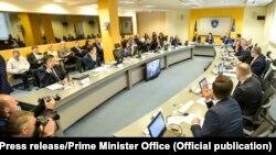 Foto nga një mbledhje e Qeverisë së Kosovës.