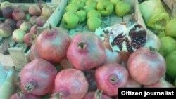 Фрукты на одном из рынков Маргилана.