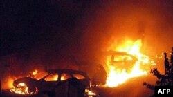 به دنبال انفجار قطار حامل گاز مایع در شهر ویارجیو شعله های آتش مناطق وسیعی از این شهر را دربر گرفت.