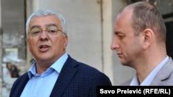 Lideri demokatskog fronta Andrija Mandić i Milan Knežević