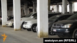 Armenia -- Imported cars in tax terminal, undated.