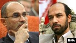 علی اکبر محرابیان ( راست) به عنوان وزیر صنایع و معادن و غلامحسین نوذری به عنوان وزیر نفت تایید شدند.