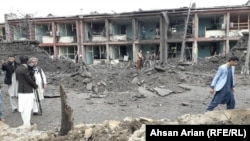 At least five people were killed when the truck bomb exploded on May 14 in Gardez.