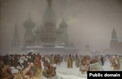The Abolition Of Serfdom In Russia, painted by Mucha in 1914