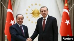Режеп Тайып Эрдоган менен Масуд Барзани. Анкара, 9-декабрь, 2015-жыл