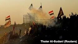 تر دې مخکې په نومبر کې هم بغداد کې حکومت ضد مظاهرې شوې وې