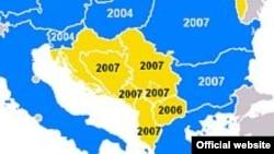 CEFTA, mapa zemalja članica