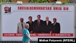 Predizborni plakat u Sarajevu, 3. septembar 2010