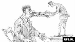 Karikaturany çeken: Mihail Zlatkowski