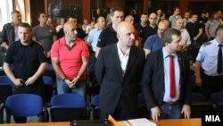 """Të dënuarit në rastin """"Monstra"""" në një seancë të gjykatës."""