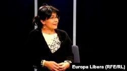 Silvia Radu, în studioul Europei Libere