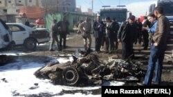 آثار تفجير في مدينة الحلة