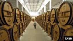 One of Moldova's extensive wine cellars