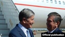 Алмазбек Атамбаев и Шавкат Мирзиёев.
