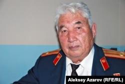 Ветеран Советской армии Хасен Ибраев. Алматы, 21 октября 2011 года.