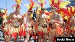 Участники традиционного гей-парада Christopher Street Day.