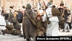Прорыв блокады Ленинграда. Реконструкция. 23 февраля 2020 г. Хабаровск