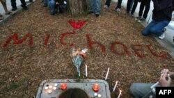 Свечи в Лос-Анджелесе в память о Майкле Джексоне