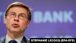 Изпълнителният зам.-председател на Европейската комисия с ресор Икономика в интерес на хората Валдис Домбровскис