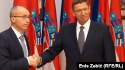 Hrvatski ministar obrane Damir Krstičević i generalni direktor izraelskog ministarstva Udi Adam