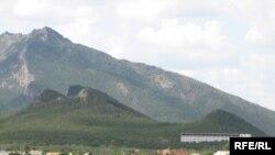 Вид на поселок Боровое. Акмолинская область. Июль 2009 года.
