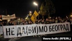 Šesti protest zbog rušenja u Hercegovačkoj