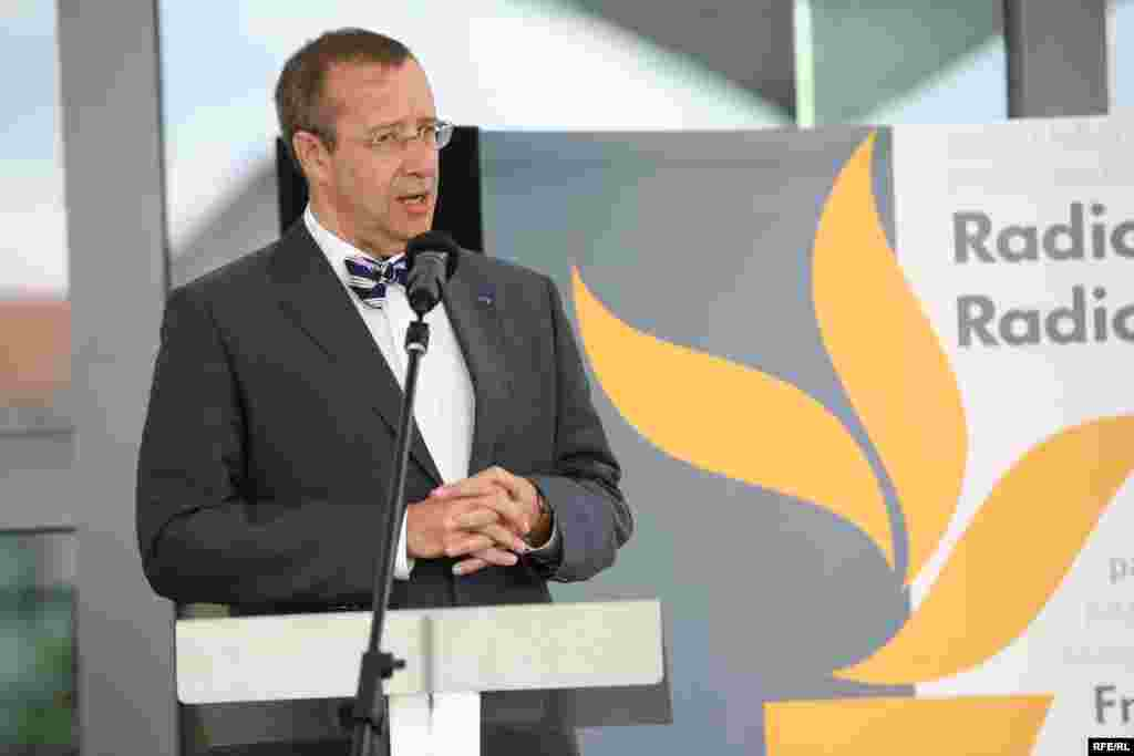 Estonian President Toomas Ilves delivered the keynote speech at the opening ceremony.