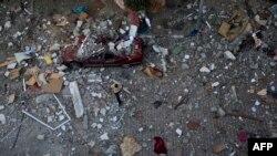 Город Газа после налета израильских ВВС
