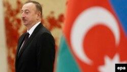 Президент Азербайджана Ильхам Алиев, 2015 год.