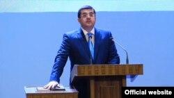 Nagorno-Karabakh -- Ara Hatutuinian is sworn in as new president, Shushi, May 21, 2020