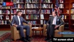 Посол США в Армении Ричард Миллз дает в интервью 1in.am, Ереван, 26 июня 2015 г.