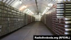 Сховище, де знаходяться реактивні снаряди і частина дефіцитних калібрів