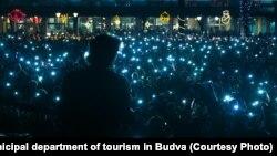 Atmosfera sa dočeka Nove godine u Budvi
