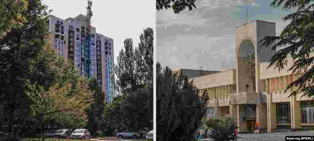 Кінотеатр «Мир» в парку Партизанської слави знесли на початку нульових. Тепер на його місці будівельна фірма «Владоград» завершує зведення елітної 19-поверхівки в парковій зоні. А ось будинок культури профспілок зовні не змінився. Тільки дерева розрослися