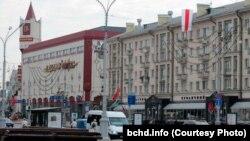 Sot, flamuri kombëtar në Minsk të Bjellorusisë.