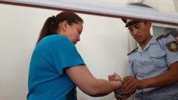 Сайрагуль Сауытбай во время судебного разбирательства. Алматинская область, 9 июля 2018 года.