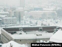 Urušeni krov Skenderije, februar 2012.
