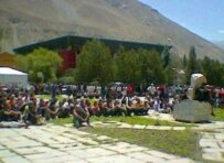 More than 500 people gathered for protests in Khorog