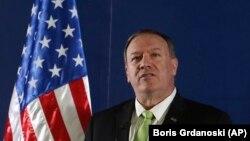 Secretarul de stat al Statelor Unite, Mike Pompeo, Ohrid, 4 octombrie 2019