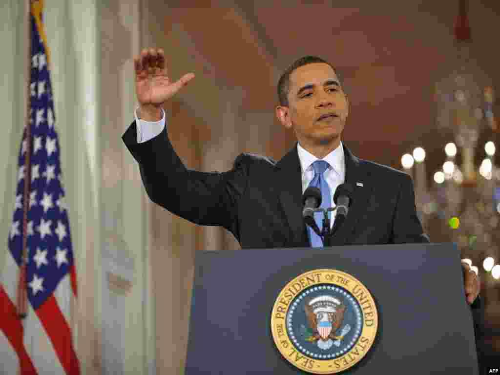 Барак Обама дал пресс-конференцию по итогам первых ста дней своего президентства