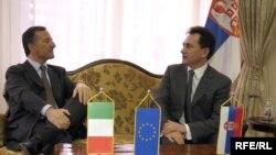 Franco Frattini i Božidar Đelić, Foto: Vesna Anđić