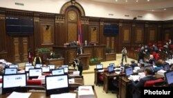 Armenia - The National Assembly debates the state budget for 2012, 6Dec2011.