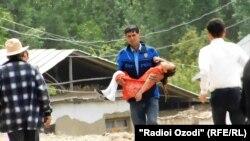 Дети, пострадавшие от неизвестных лекарств в районе Шамсиддина Шохина.