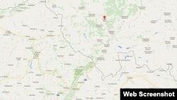 Село Солоті Бєлгородської області Росії, де будується база (чорною лінією позначено кордон із Україною)