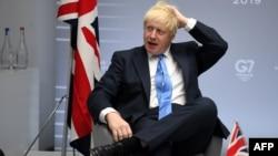 Մեծ Բրիտանիայի վարչապետ Բորիս Ջոնսոն, Բիարից, 26-ը օգոստոսի, 2019թ.